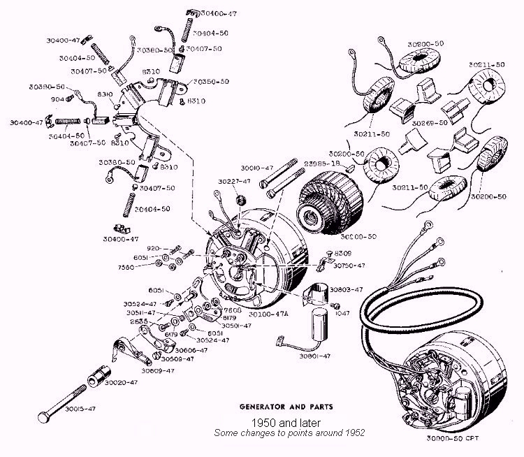 1950 generator 750 hhc restore chapter 72 generator harley generator wiring diagram at crackthecode.co